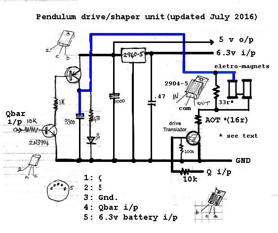 A diy free pendulum hipp toggle master clock the qbar output of ic2b in the hipp toggle circuit which is normally high is connected to the input ip on the left this turns on 2n3906 transistor ccuart